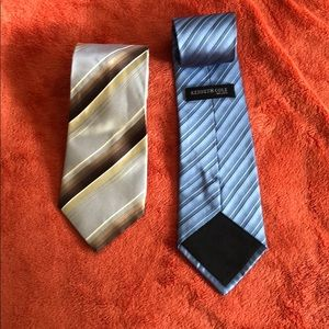 Kenneth Cole Men's 100% Silk 2 Ties